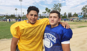 Andrew Diaz (left) and Andrew Manriquez from Poly picture